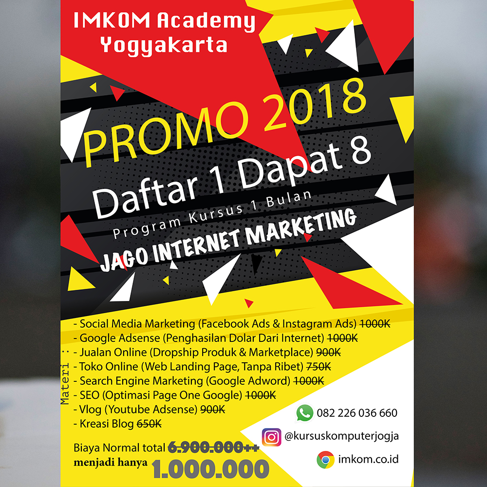 Jago Internet Marketing Promo 2018